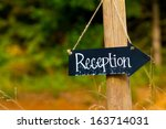 A Wedding Reception Sign Is...