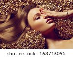 Постер, плакат: Hair Beautiful brown hair