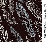 seamless pattern with... | Shutterstock . vector #163716374