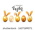 Black Lettering Happy Easter...