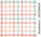 gingham seamless pattern.... | Shutterstock .eps vector #1637204014