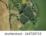 aerial view of summer field and ... | Shutterstock . vector #163720715