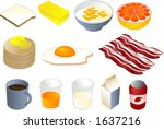 breakfast clipart illustrations ... | Shutterstock .eps vector #1637216
