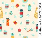 zero waste pattern vector... | Shutterstock .eps vector #1637216854