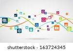 internet application background | Shutterstock .eps vector #163724345