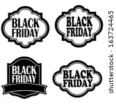abstract black friday labels on ... | Shutterstock .eps vector #163724465