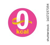 0 kcal icon   stamp for... | Shutterstock .eps vector #1637257354