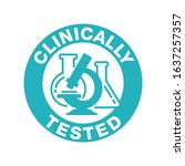 clinically tested sign  ... | Shutterstock .eps vector #1637257357