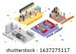 food court isometric...   Shutterstock .eps vector #1637275117
