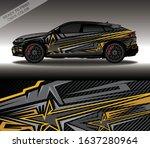 car wrap decal design vector ...   Shutterstock .eps vector #1637280964