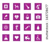 vector medic icons set. | Shutterstock .eps vector #163728677