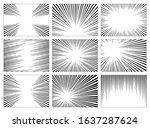 set of black and white  gray... | Shutterstock . vector #1637287624