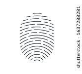 raster version. fingerprint... | Shutterstock . vector #1637288281