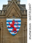 Small photo of Shield with a crowned red lion. Lesser �oat of Arms of the Duchy of Luxembourg.