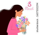 march 8. beautiful card for... | Shutterstock .eps vector #1637332294