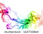 colored smoke isolated on white ...
