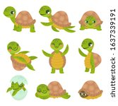Cartoon Smiling Turtle. Funny...