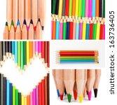 Color Pencils Collage