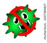 stop virus icon. coronavirus...   Shutterstock .eps vector #1637384827