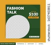 advertising social media... | Shutterstock .eps vector #1637403811