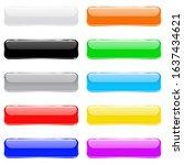 colored 3d glass buttons. 3d...   Shutterstock . vector #1637434621