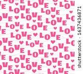 romantic typographic background ... | Shutterstock .eps vector #1637436871
