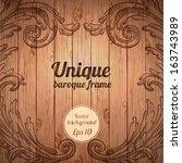 vector vintage baroque... | Shutterstock .eps vector #163743989
