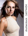 sexy woman posing in studio   Shutterstock . vector #16374454
