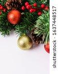 beautiful christmas decorations ... | Shutterstock . vector #1637448517