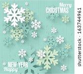 Snowflakes. Christmas And New...
