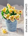 Beautiful Yellow Flowers In A...