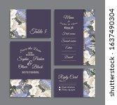 wedding invitation  thank you... | Shutterstock .eps vector #1637490304