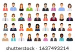 avatar business people. person... | Shutterstock .eps vector #1637493214