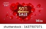 happy valentine's day rose... | Shutterstock .eps vector #1637507371