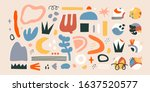 big set of hand drawn various... | Shutterstock .eps vector #1637520577