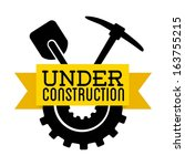 under construction over white... | Shutterstock .eps vector #163755215