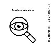 product overview icon vector. perfect product overview vector - symbol. beautiful product overview  element. web design and mobile design. premium quality element-vector.