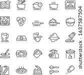 cooking  preparing food ... | Shutterstock .eps vector #1637587504