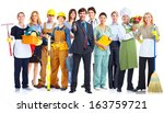 group of business people... | Shutterstock . vector #163759721