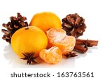 christmas composition with... | Shutterstock . vector #163763561
