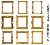golden frame for paintings ... | Shutterstock . vector #1637638057