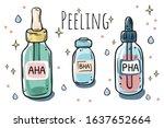 different types of peelings.... | Shutterstock .eps vector #1637652664
