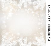 christmas background with lacy... | Shutterstock . vector #163770491