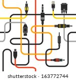 different modern connection... | Shutterstock .eps vector #163772744