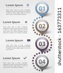 infographics design template...   Shutterstock .eps vector #163773311