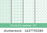 set of seamless line patterns.... | Shutterstock .eps vector #1637750284
