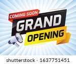 coming soon grand opening word ...   Shutterstock .eps vector #1637751451