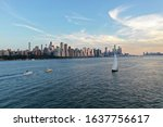 Aerial City Skyline  New York...