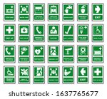 set of safety condition... | Shutterstock .eps vector #1637765677