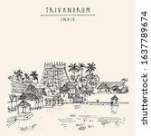 trivandrum  thiruvanathapuram   ... | Shutterstock .eps vector #1637789674